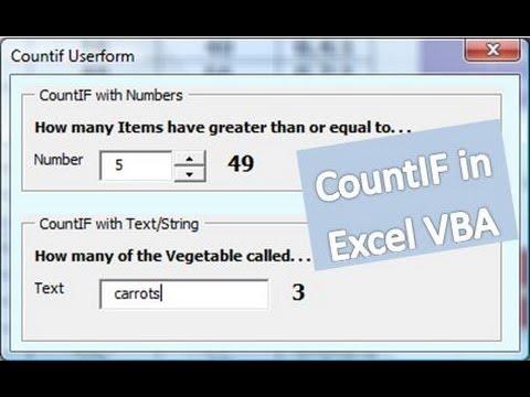 CountIF Excel VBA