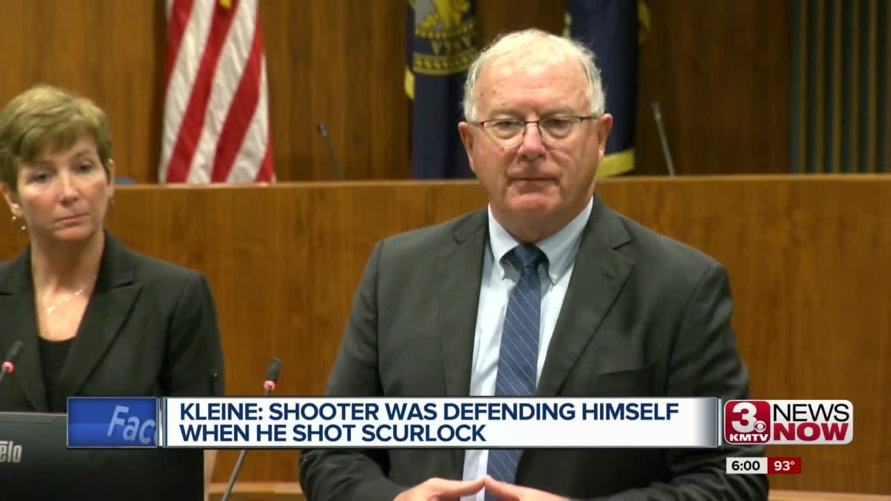 Kleine: Shooter was defending himself when he shot Scurlock