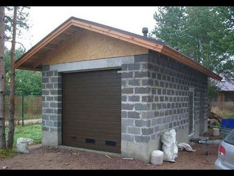 Garage bauen. Garage selber mauern. Garage selber bauen