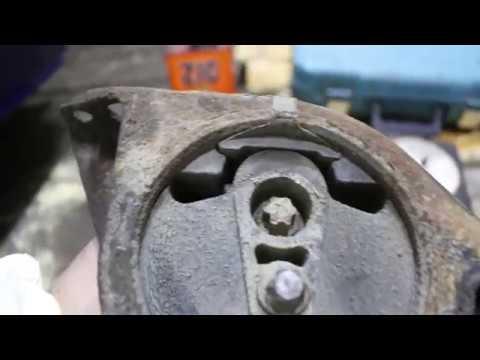 Снятие опор двигателя калина