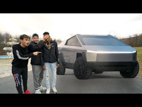 destroying-our-friend's-car-and-surprising-him-with-the-new-tesla-cybertruck!