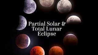 Partial Solar and Total Lunar Eclipse in July - Aug 2018