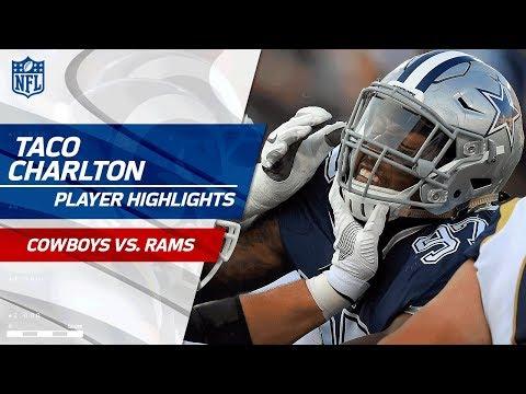 Taco Charlton's Best Plays vs. Los Angeles | Cowboys vs. Rams | Preseason Wk 1 Player Highlights