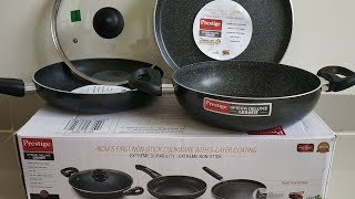Prestige Omega Deluxe Granite 3 Pcs And 1 Lid Non Stick Cookware | Value for Money Product