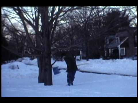 Blizzard Snow in Needham Mass. Feb.1978