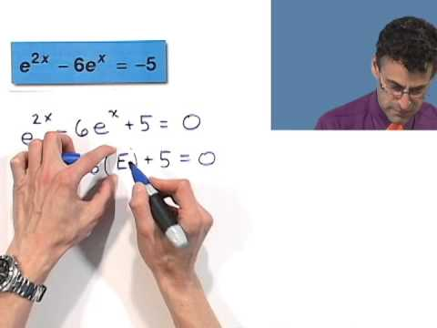 Solving Exponential Equations of Quadratic Type