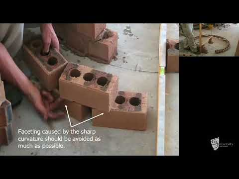 Constructing brick well (curved wall) Part 2 of 2