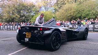 BAC Mono Donuts on the Grid at the Gumball3000 arrival