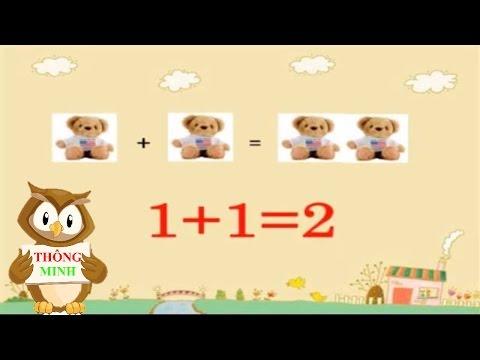 Dạy bé học toán | phép cộng cho trẻ mầm non, bé làm toán lớp 1 | dạy trẻ thông minh sớm