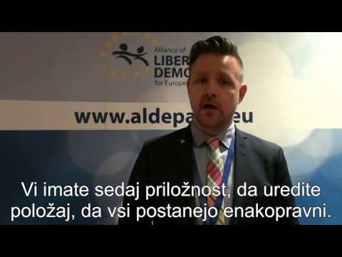 Fredrick Federley, evropski poslanec ALDE (Švedska)