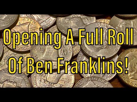 Opening A Full Roll Of Benjamin Franklin Silver Half Dollars