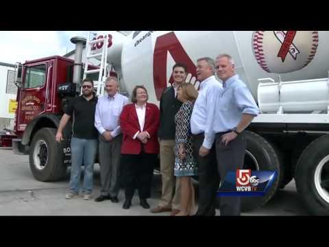 Boston Sand and Gravel unveils new ALS Challenge trucks