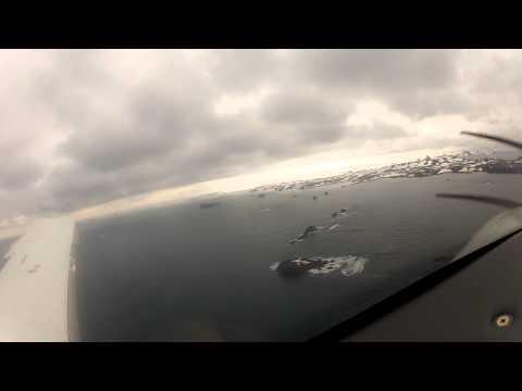 Solo Flight to Antarctica - landing at King George Island