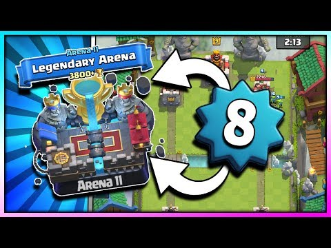 PUSHING TO ARENA 11!! LEVEL 8 - NEW HIGHEST TROPHY!! Clash Royale - Road to Legendary Arena [Ep. 8]