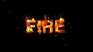 Как сделать надпись огнём в фотошопе?