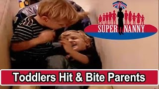 Twin Toddlers Hit & Bite Parents | Supernanny USA