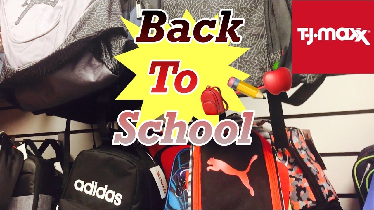 301c65548c BACK TO SCHOOL SHOPPING AT TJ MAXX + BACKPACKS | WINDOW SHOP WITH ME ...