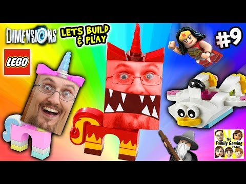 Thumbnail: Lets Build & Play LEGO Dimensions #9: UNIKITTY RAGE! (FGTEEV Continues the Story)