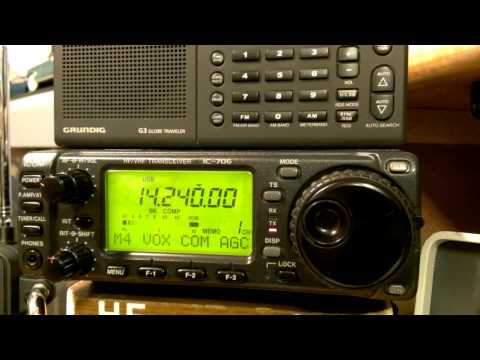 Icom 706 with Gap Titan DX 100 watts