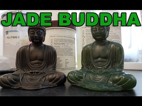 Making Silicone mould and casting a Jade green Buddha from an original