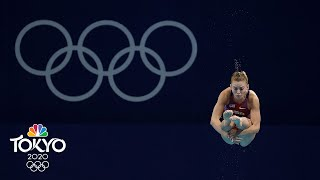 USA's 18-year-old Hailey Hernandez logs top-10 springboard finish | Tokyo Olympics | NBC Sports