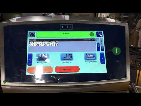 Linx 8920 Traversing System for CIJ Printer | Food and Beverage Industries