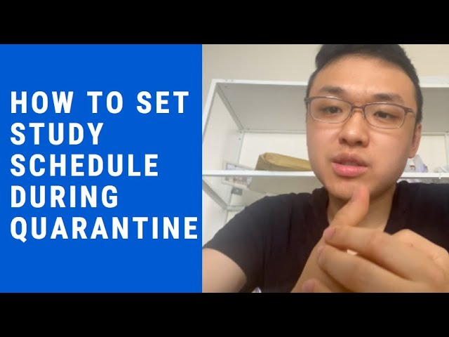 How to set studying schedule during quarantine? (The IB Student Show)