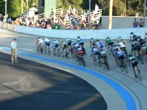 Track racing action