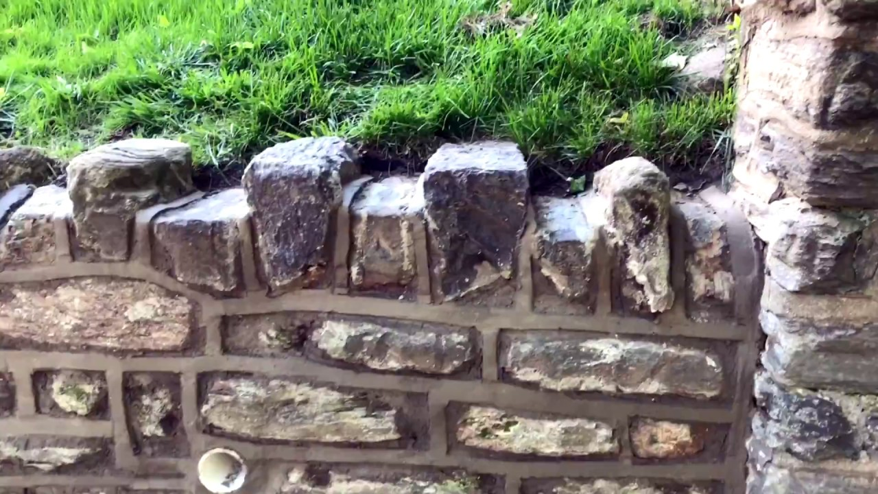 How To Repair And Point A Stone Wall Concrete And Cement