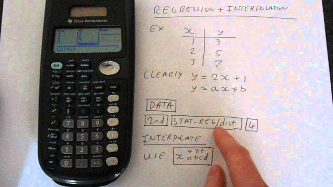 TI-36X Pro Linear Regression and Linear Interpolation by Calculator Expert