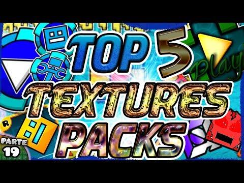 ¡TOP 5 TEXTURES PACKS ÉPICOS PARA GEOMETRY DASH 2.11! | LOS MEJORES #19 - Raxter