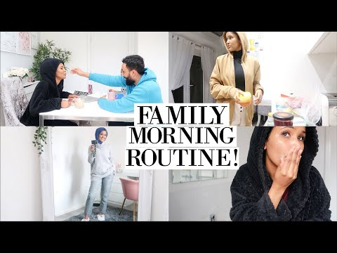 A RAW FAMILY MORNING ROUTINE WITH 2 KIDS!