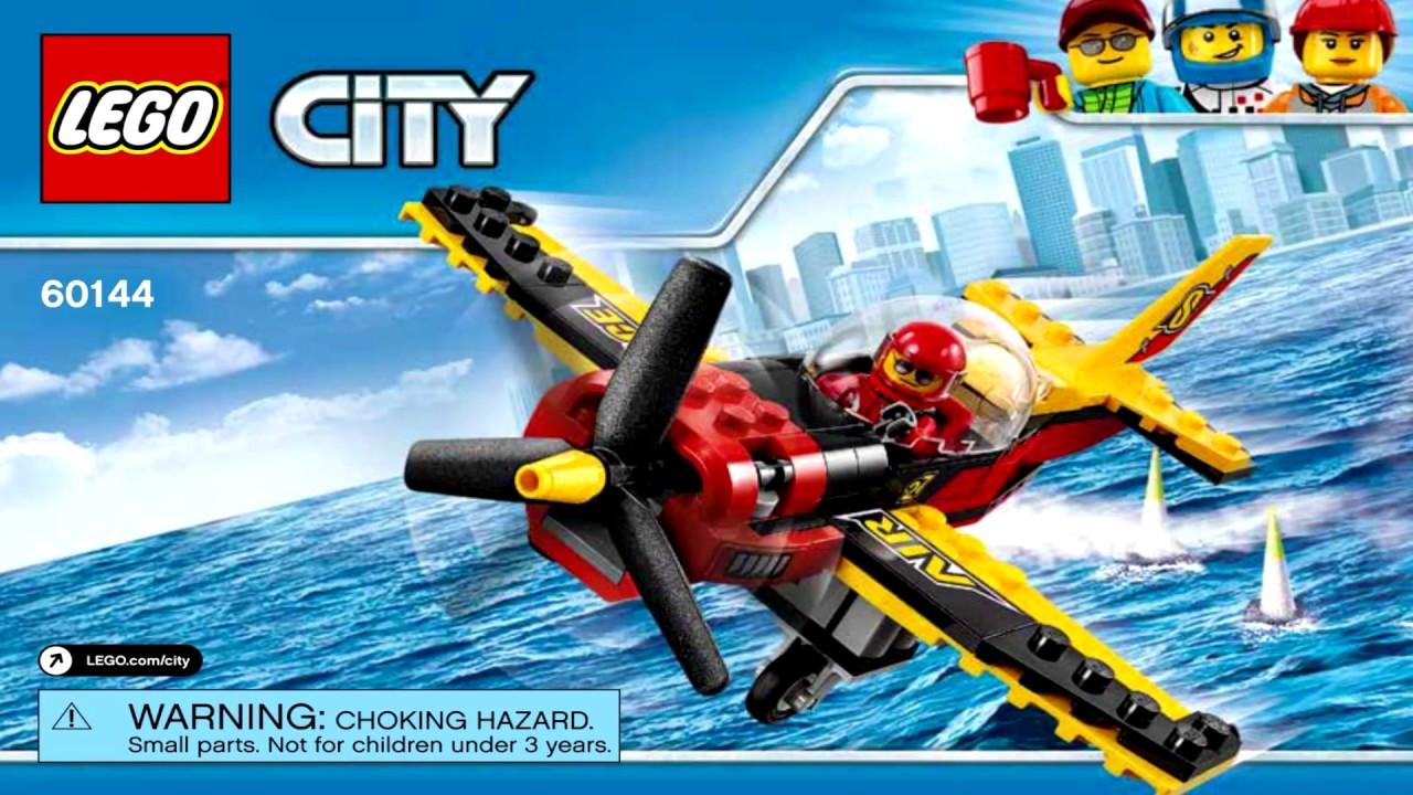 LEGO Pilot Race plane pilot minifigure City set from set 60144