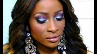 New Years Eve Look #2- Smokey Silver Glitter with a hint of Plum