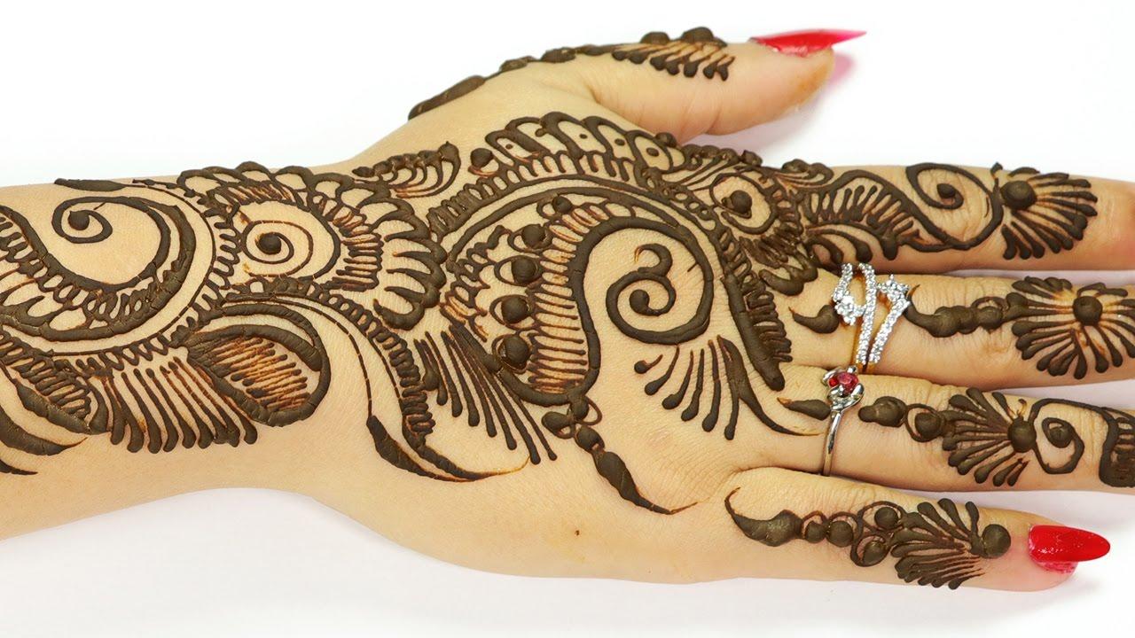 beautiful mehndi designs arabic style