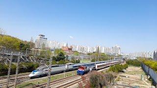 화서역 지나가는 빈화물열차 KTX기차 무궁화호 열차소리