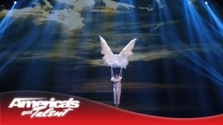 Kenichi Ebina - Mysterious and Dark Dance With Angel Wings - America's Got Talent 2013