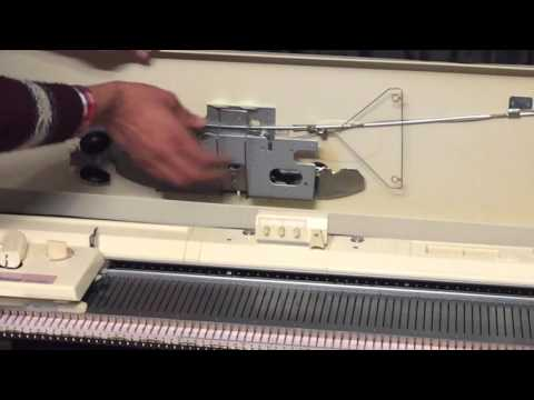 How to setup a Brother Chunky knitting machine KH 260