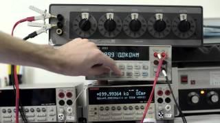 HP 34401A post-repair calibration and test