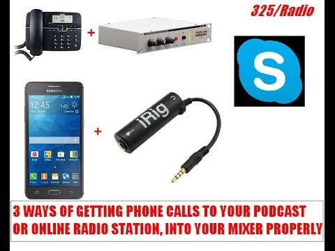 Different options for taking phone calls in your podcast or
