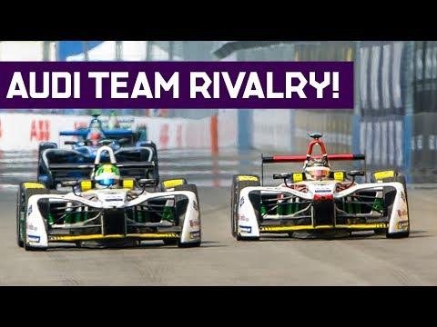 Audi Teammates Clash! Abt Vs di Grassi - 2018 Qatar Airways New York City E-Prix Round 11