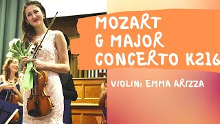 W.A.Mozart, Violin Concerto G major, K 216 - Emma Arizza