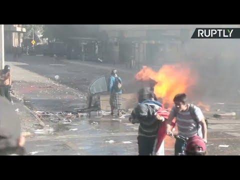 Disturbios en las manifestaciones de Chile