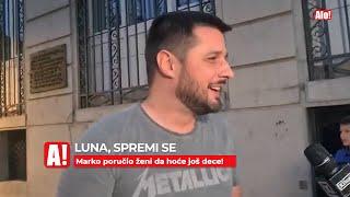 LUNA, SPREMI SE! Marko Miljković poručio supruzi da hoće još dece!