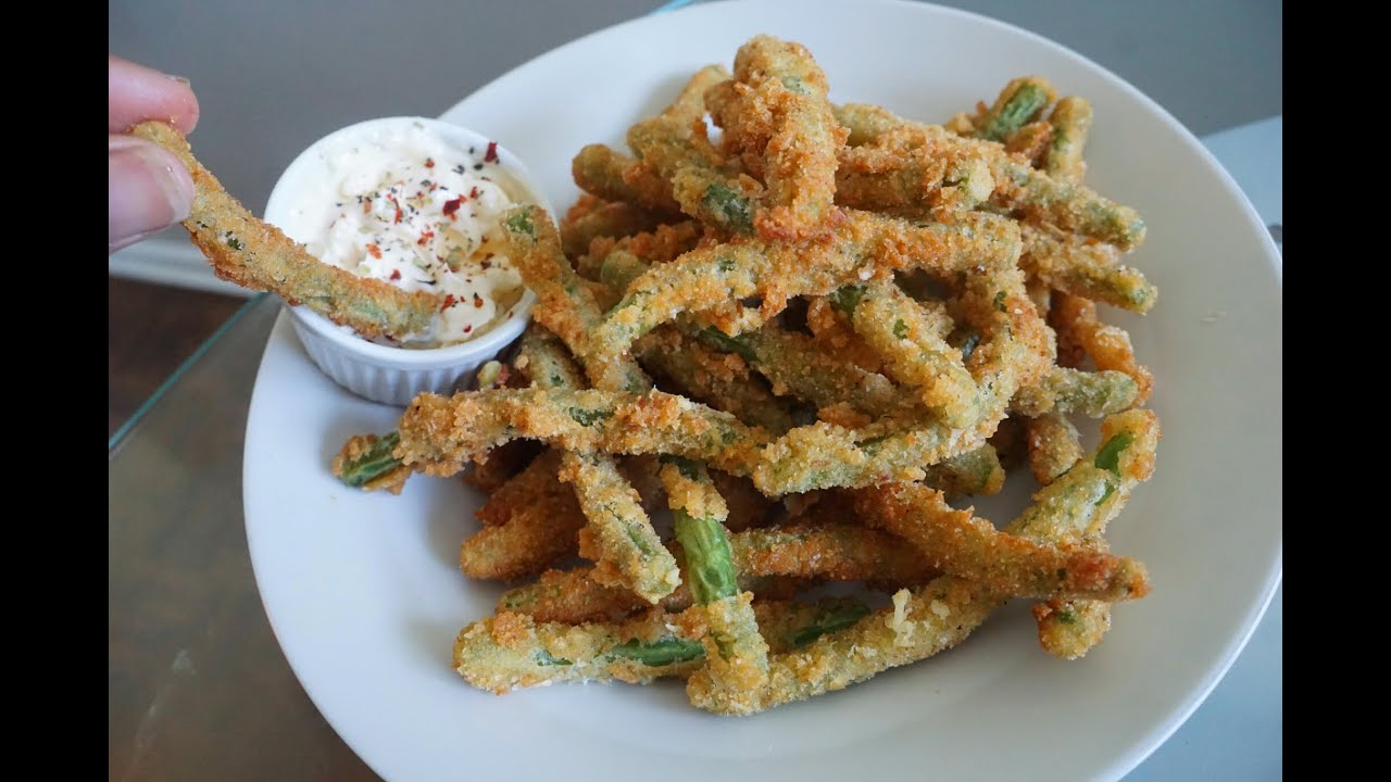 Amazing Crispy Fried Green Bean Fries Recipe Less Than 10 Mins Youtube