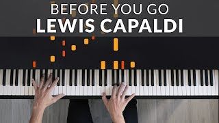 Lewis Capaldi - Before You Go | Tutorial of my Piano Cover видео