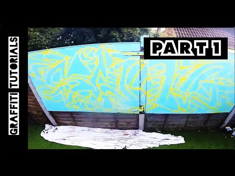 How to Graffiti with Spray Paint (Part1)  // GRAFFITI TUTORIALS