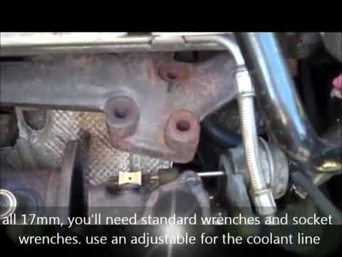 Audi A4 Turbo Removal without removing front end