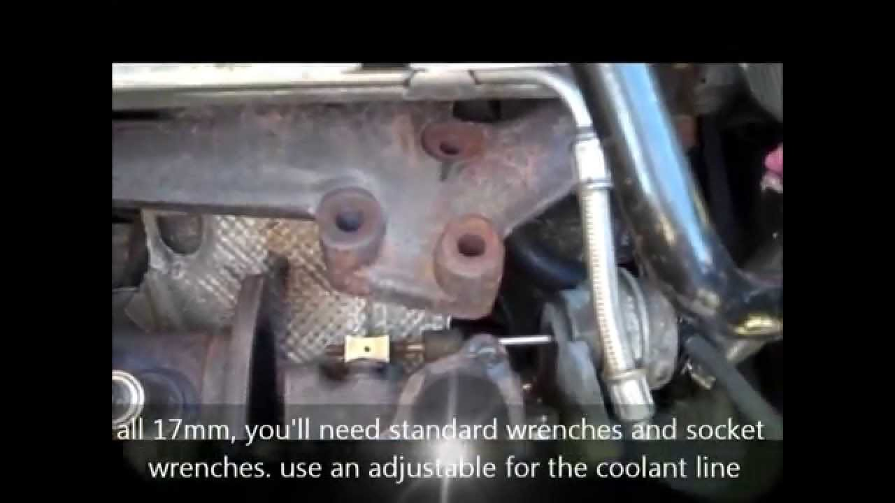 Audi A4 Turbo Removal Without Removing Front End Youtube 2004 S4 Engine Diagram