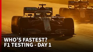 Who's fastest? - F1 2020 testing - DAY 1 | The Rundown
